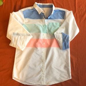Multicolored button down kids shirt